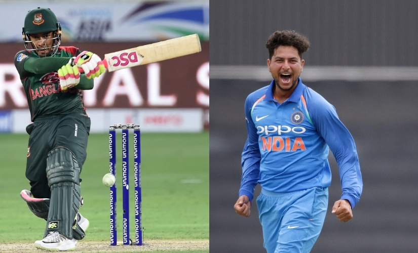 Mushquifir Rahim smashed a brilliant 144 against Sri Lanka. Kuldeep Yadav has bagged 3 wickets in two games. AFP