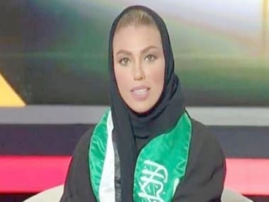 Weam Al-Dakheel appeared alongside anchor Omar Al Nashwan and presented the news bulletin on the state-owned Saudi TV Channel 1. ANI