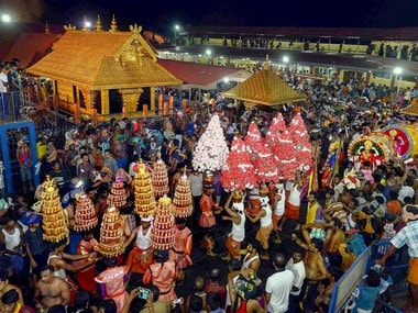 File image of Sabarimala temple. PTI