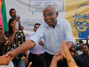 File image of Ibrahim Mohamed Solih. AP