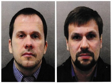 Image of Alexander Petrov and Ruslan Boshirov, who were formally accused of attempting to murder former Russian intelligence officer. Reuters
