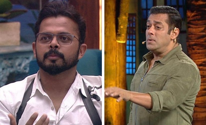 Sreesanth and Salman Khan. Image via Twitter/@BiggBoss