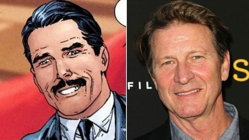 Thomas Wayne, as depicted in Batman comics (left) and Brett Cullen (right). Image from Facebook