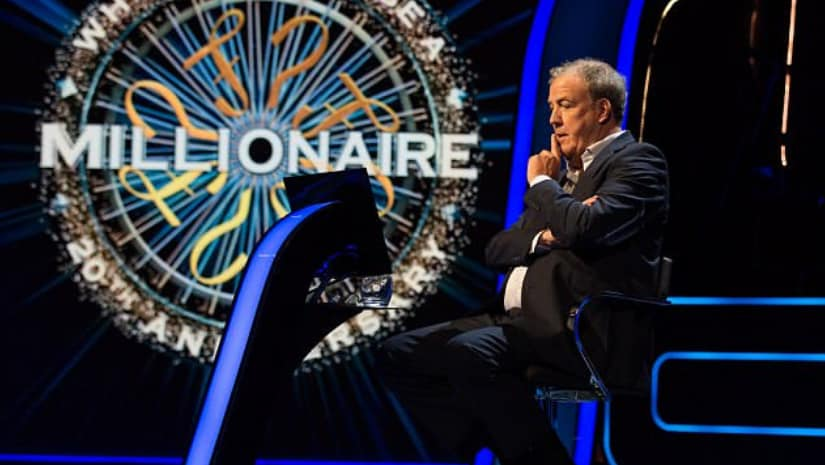 Jeremy Clarkson's on Who Wants to Be a Millionaire? Image from Facebook