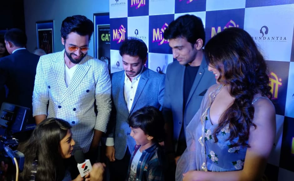 Jackky Bhagnani, Kritika Kamra, Pratik Gandhi and Shivam Parekh along with director Nitin Kakkar attended the special screening