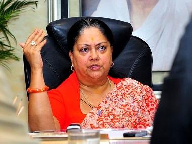 File image of Rajasthan chief minister Vasundhara Raje. Reuters
