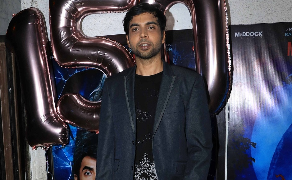 Abhishek Banerjee who portrays Rajkummar Rao's friend in <em>Stree</em> at the success bash