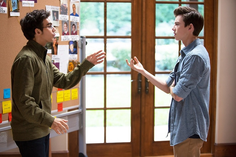 Tyler Alvarez and Griffin Gluck as Peter and Sam in American Vandal season 2. Netflix