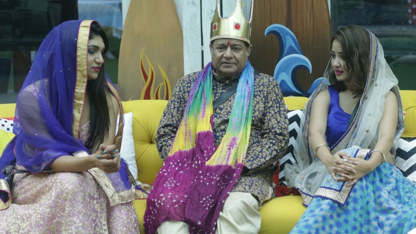 Anup Jalota in the princely garb for Bigg Boss task