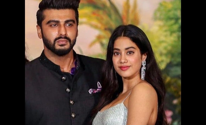 Arjun Kapoor (left) with Janhvi Kapoor