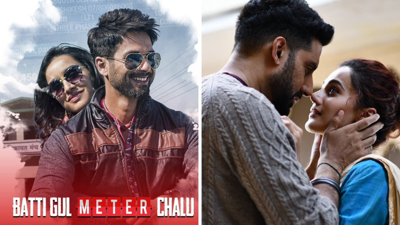 Batti Gul Meter Chalu poster. Still from Manmarziyaan. Images via Twitter