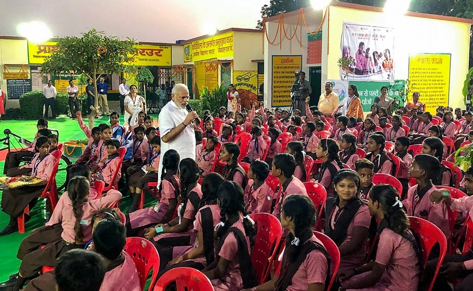 Modi interacted with students at a primary school in Narur village in Varanasi and told them that they should not shy away from asking questions, as doing so