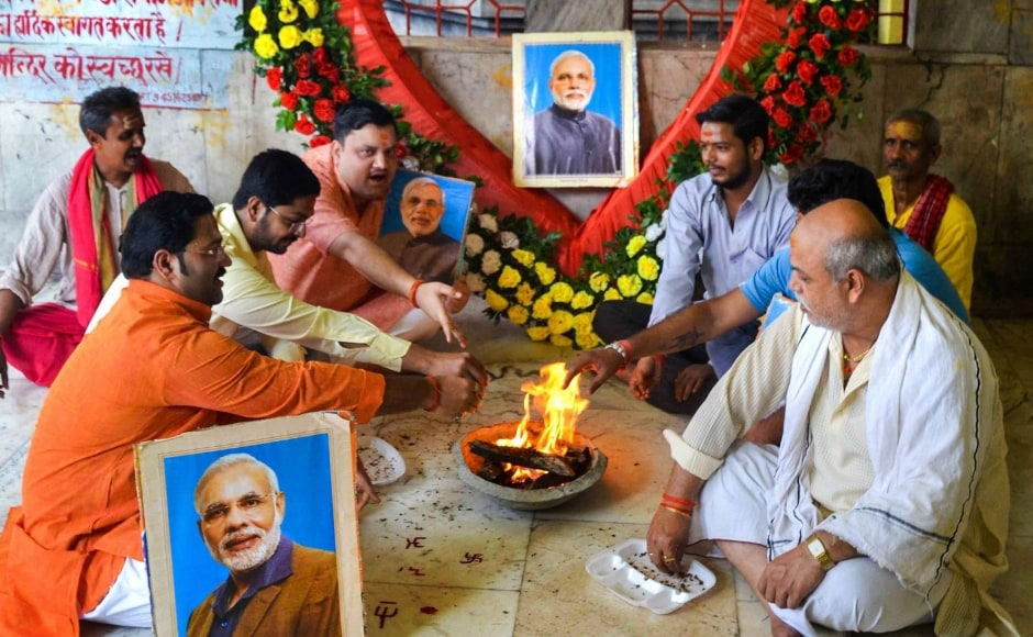 Wishes poured in for Modi from different parts of the country. In Uttar Pradesh's Mirzapur, BJP workers offered prayers on prime minister's birthday and performed 'hawan'. PTI