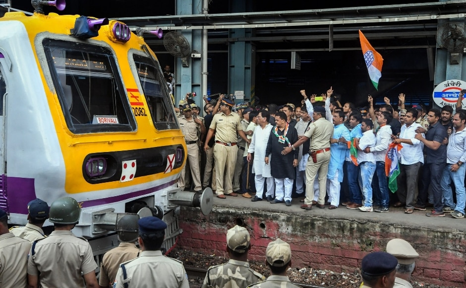 Maharashtra Congress president Ashok Chavan was arrested along with Mumbai Congress chief Sanjay Nirupam on Monday morning at Andheri railway station. They were participating in a 'rail roko' protest at the station. PTI