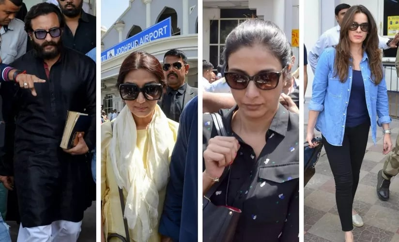 Saif Ali Khan, Sonali Bendre, Tabu and Neelam/Image from Twitter.