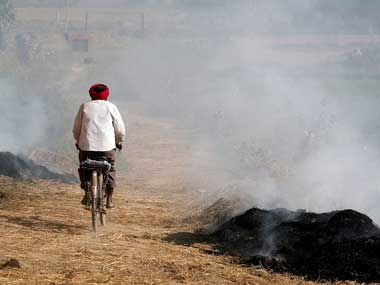 Stubble burning in Punjab. Representational image. Reuters