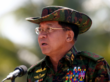 File image of Min Aung Hlaing. Reuters