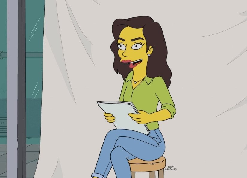 Gal Gadot in The Simpsons. Twitter @ggadotnet