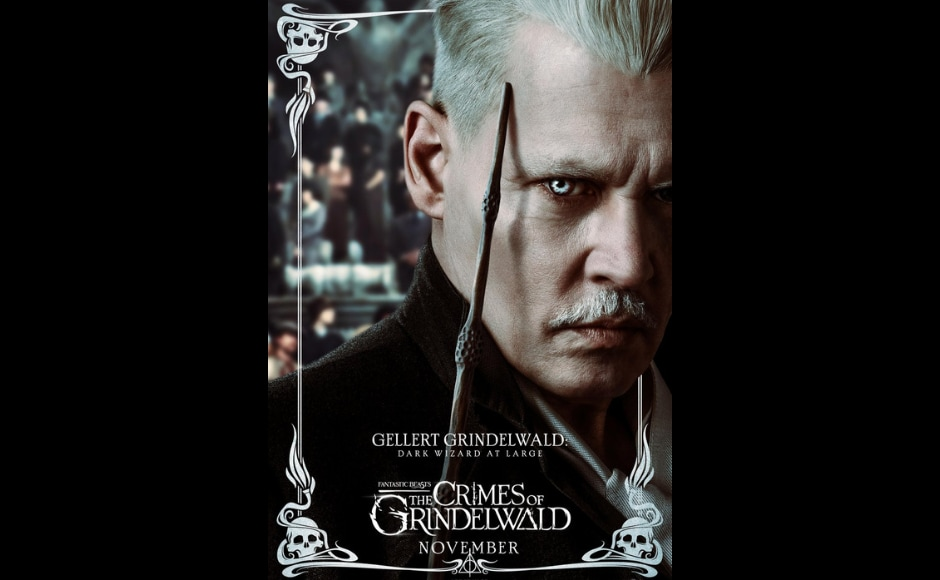 Johnny Depp plays Gellert Grindelwald in Fantastic Beasts: The Crimes of Grindelwald. Image from Twitter/ BeastsMovieUK