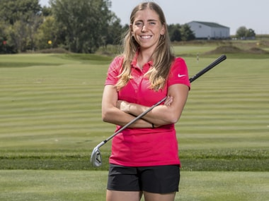 Golfer Celia Barquin Arozamena who  was found dead Monday at a golf course in Ames, Iowa. AP