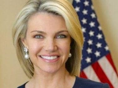 Image of US State Department spokesperson Heather Nauert. Twitter/@statedeptspox