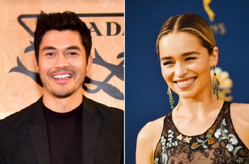 Henry Golding and Emilia Clarke. Image via Twitter/@ST_LifeTweets