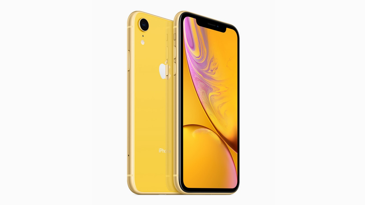 The Apple iPhone XR in Yellow. Image: Apple