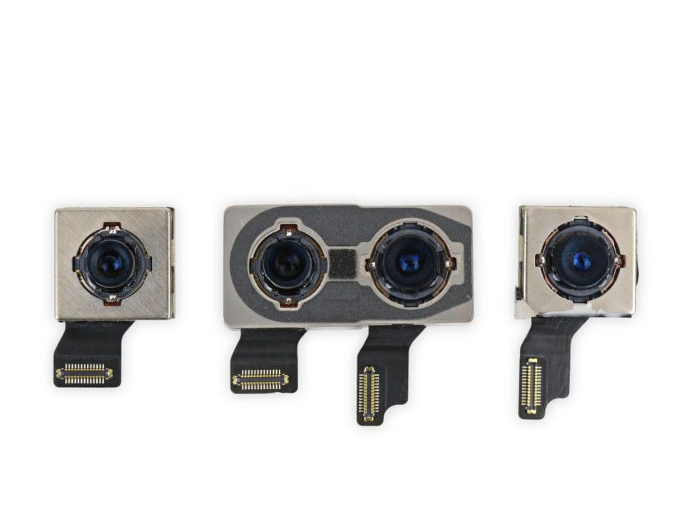 iPhone XS cameras. Image: iFixit