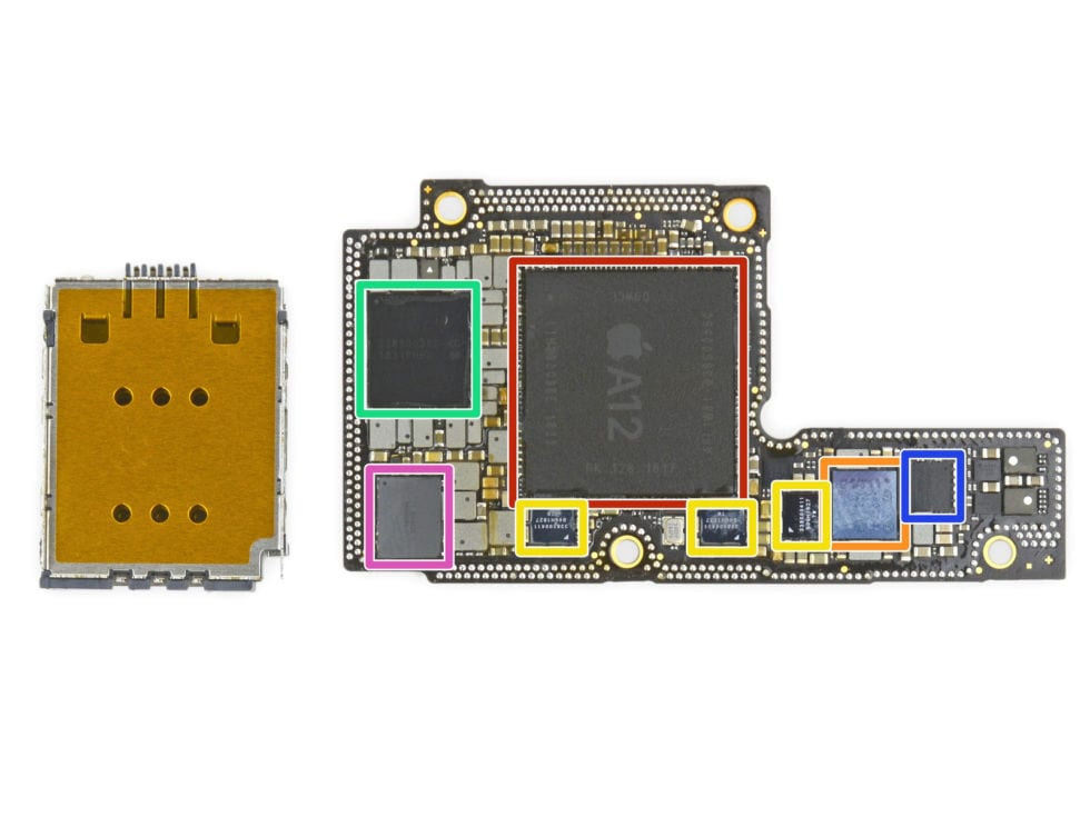 iPhone XS logic board. Image: iFixit