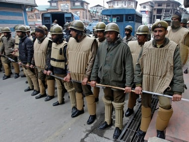 File image of Jammu and Kashmir police personnel. Reuters