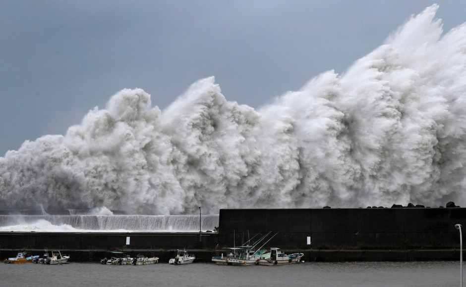 The strongest typhoon to hit Japan in 25 years made landfall on Tuesday. Packing winds of up to 216 kilometres per hour, the typhoon hit western Japan near areas still recovering from deadly record rains earlier this summer. AP