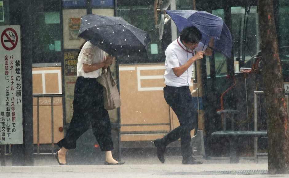 Prime Minister Shinzo Abe had urged people to evacuate early and ordered his government to take all necessary measures to protect residents, after the weather agency warned of landslides, flooding and violent winds, as well as high tides, lightning and tornadoes. Japan is regularly struck by major storms during the summer and autumn. AP