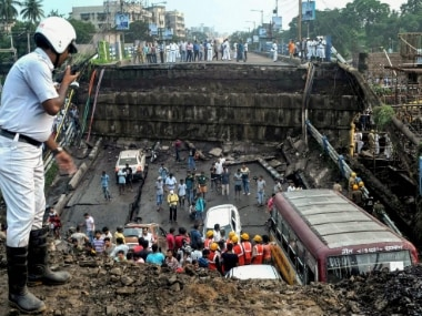 File photo of Majerhat bridge collapse. PTI
