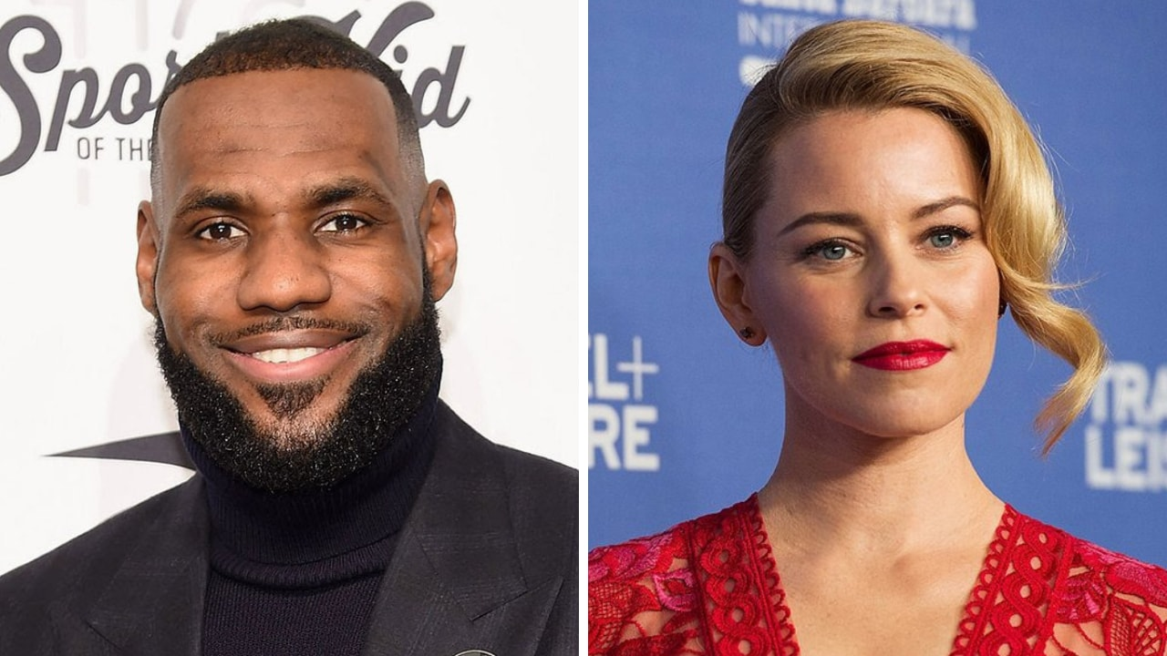 LeBron James (left), Elizabeth Banks. Images from Twitter