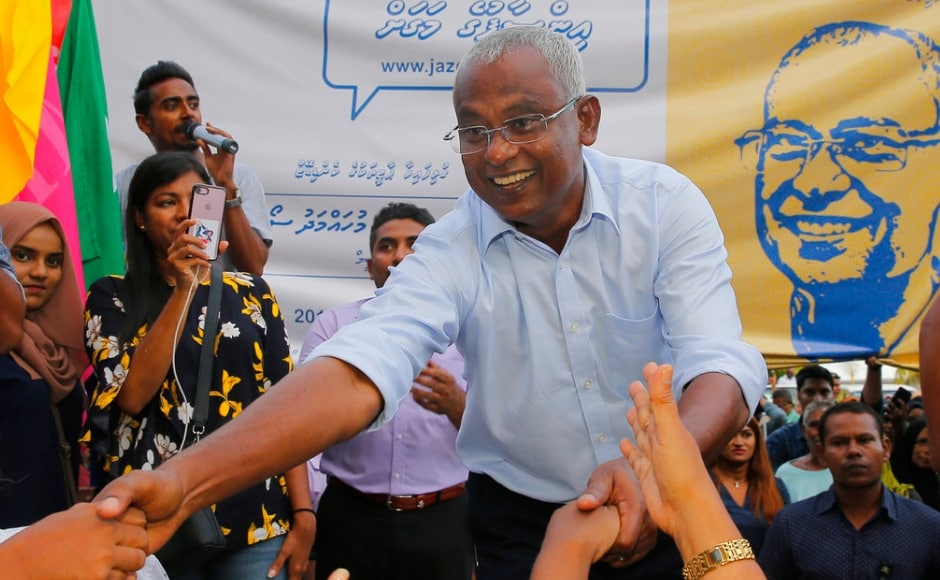 According to independent news website mihaaru.com, Solih had 58.3 percent of the vote with nearly 97.5 percent of ballots counted early Monday.Official results would not be announced until Saturday, allowing a week for parties to challenge the results in court. AP