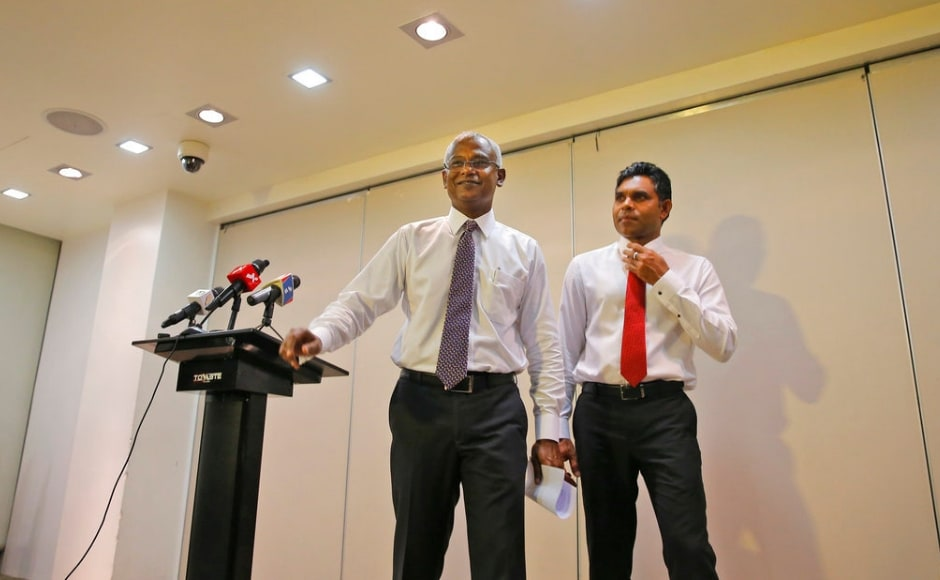 Solih, 56, was a democracy activist during decades of autocratic rule and a former Parliament majority leader. He became the Maldivian Democratic Party's presidential candidate after its other top figures were jailed or exiled by Yameen's government. AP