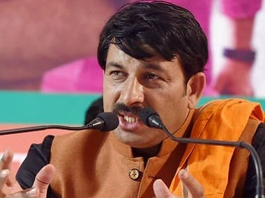 File photo of Delhi BJP president Manoj Tiwari. PTI