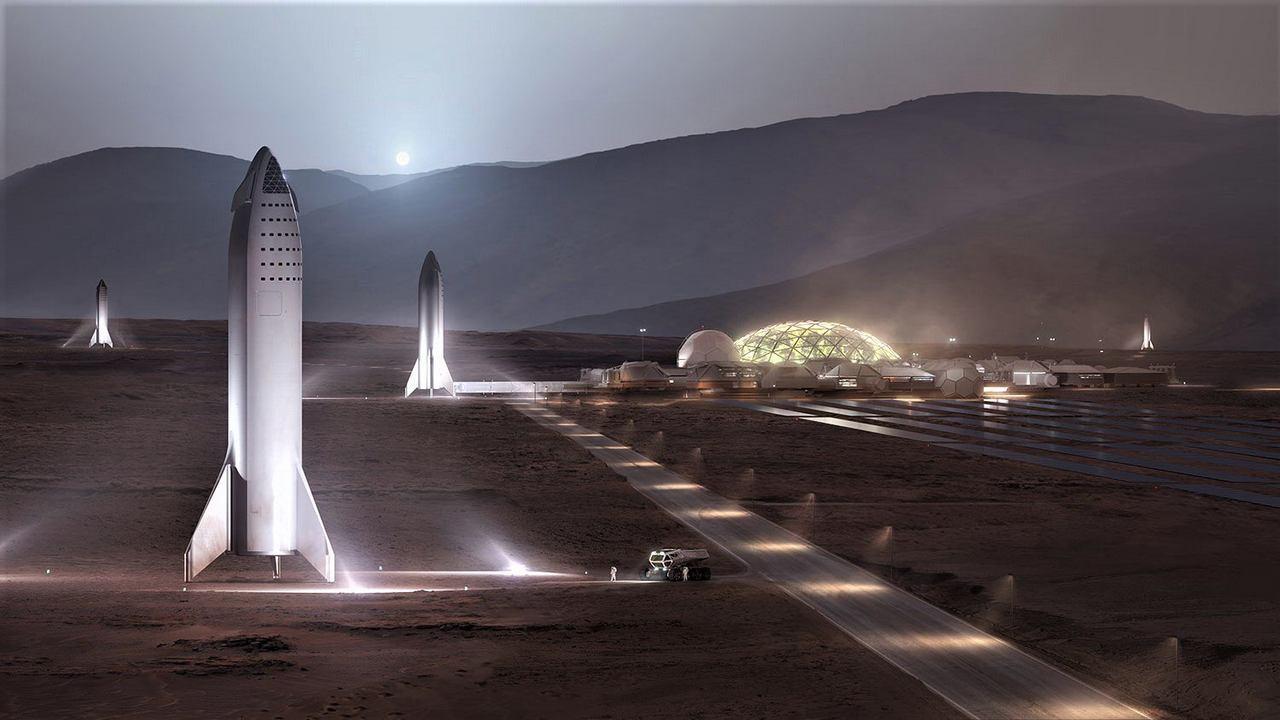Mars Base Alpha. Image: Twitter Elon Musk