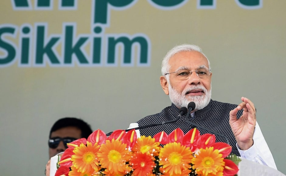 The prime minister also promised that the airport in Sikkim will not just improve connectivity to the