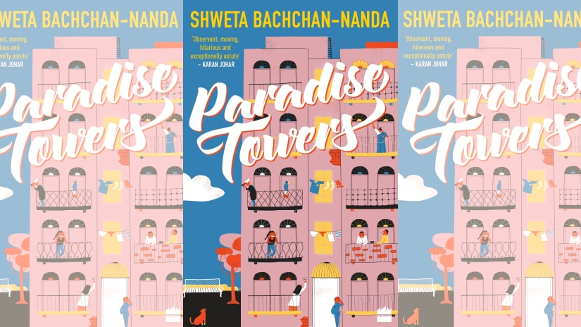 Cover for Shweta Bachchan-Nanda's Paradise Towers. Image courtesy HarperCollins India