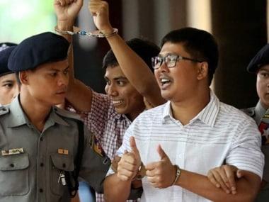 Reuters reporters, investigating Rohingya Muslim killings, sentenced to seven years in jail for violating Myanmar Official Secrets Act
