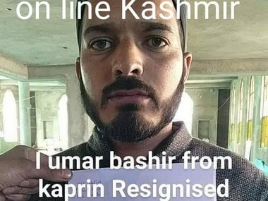 Umar Bashir from Kaprin resigned. Image courtesy Online Kashmir