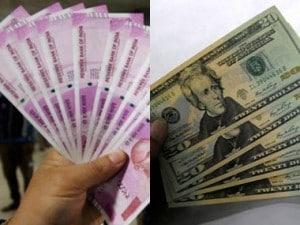 Rupee and US dollar Representational image. Reuters.
