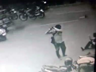 The woman's father attacked the newlywed couple. Screen grab of CCTV footage from YouTube.