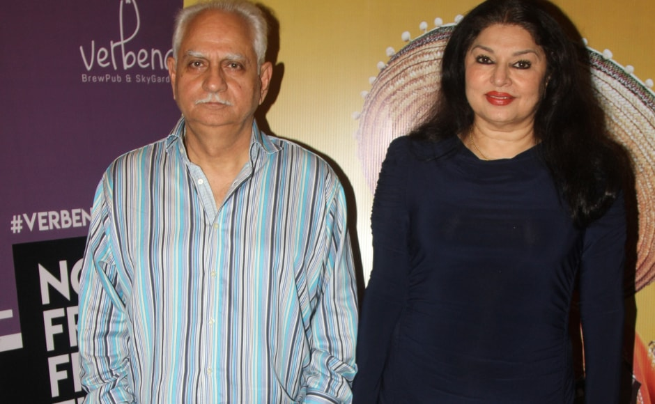 Legendary director and producer Ramesh Sippy with wife Kiran Juneja at the special screening of Eros Now's Side Hero