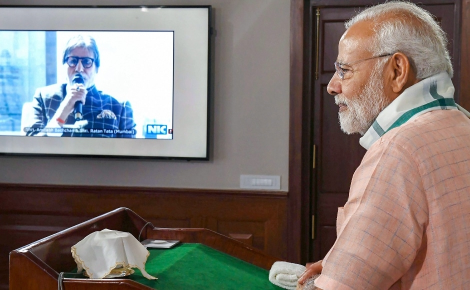 "Prime Minister Narendra Modi on 15 September launched ""Swachhata Hi Seva"" (cleanliness is service) movement. He interacted with personalities from diverse fields through video conferencing, including industrialist Ratan Tata, actor Amitabh Bachchan, Uttar Pradesh chief minister Yogi Adityanath, and spiritual leaders Sadhguru Jaggi Vasudev among others. PTI"