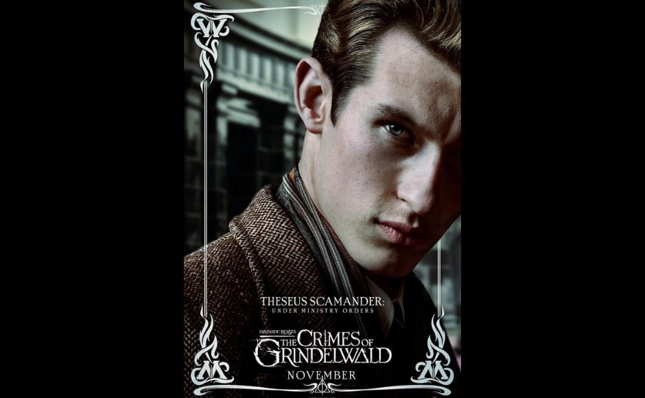 Callum Turner as Theseus Scamander. Image from Twitter/ BeastsMovieUK