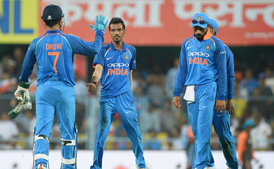Bowling first, Indians struggle to get going initially. It was then Yuzvendra Chahal who came with a good performance. He had a great day in the office, ending up figures of 3 for 41 on a track which was tailor-made for batting. He was the best bowlers for India in this game as well. AFP