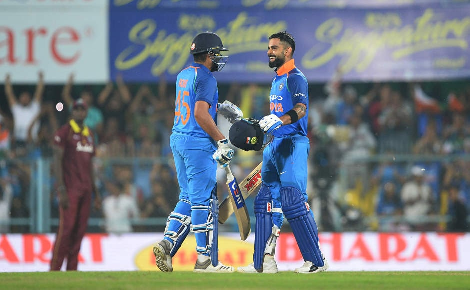 Virat Kohli, Rohit Sharma tons help India demolish West Indies by eight wickets, take 1-0 lead in series