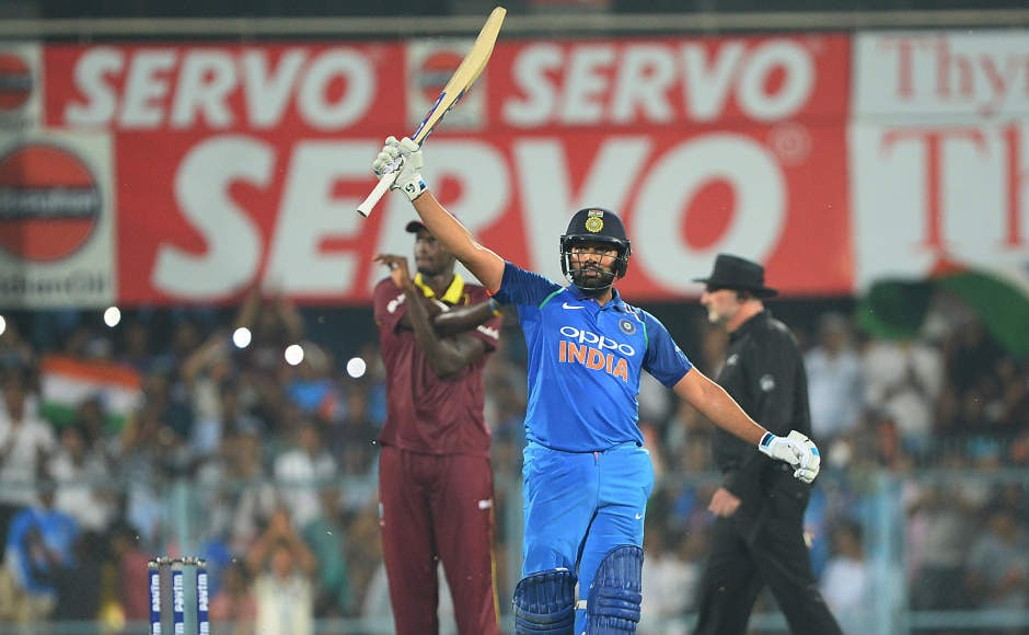 Rohit Sharma was not far behind his captain Virat Kohli and hit his 20th ODI ton. He batted from the start to the end, scoring 152 in just 117 balls. He started off very slow in his typical fashion but ended up with 15 fours and 8 sixes. AFP